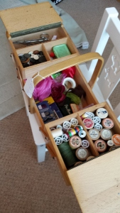 Wooden sewing box and kit