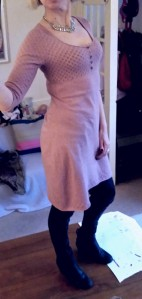 Dusky pink White Stuff woollen dress, £4.75, Cancer Research UK, Bromley