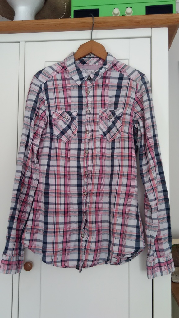 Fat Face checked shirt, donated to BHF, Penge