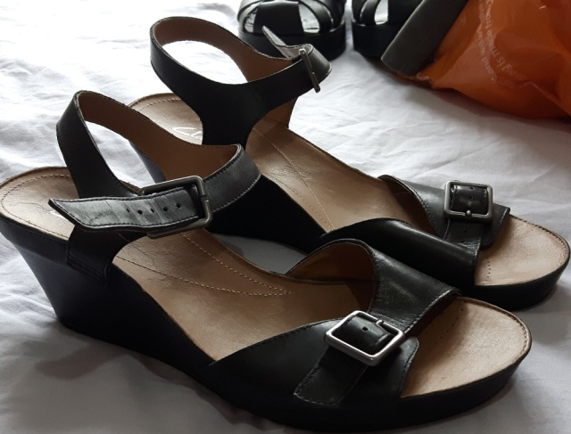 Clarks sandals from Demelza Children's Hospice shop West Wickham