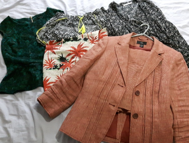 Items to be donated to charity shops